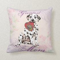Dalmatian Heart Mom Throw Pillow