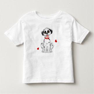 Dalmatian hearts toddler t-shirt