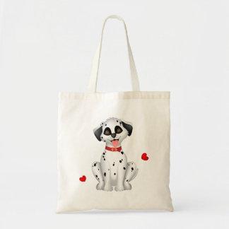 Dalmatian hearts tote bag