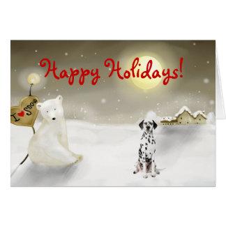 Dalmatian Holiday Card