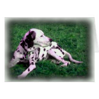 Dalmatian Holiday Greeting Card
