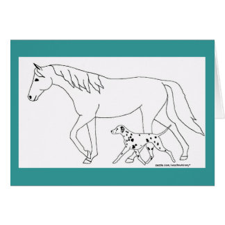 Dalmatian & Horse Stationery Note Card