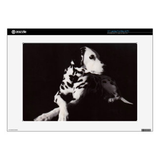 """Dalmatian in Black and White 15"""" Laptop Decal"""
