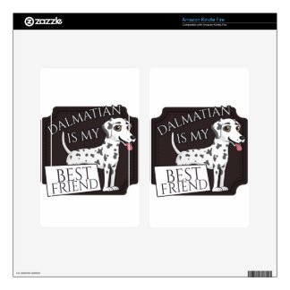 Dalmatian is my best friend! kindle fire decal