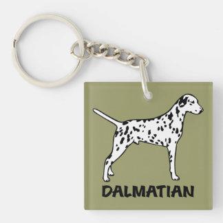 Dalmatian Square Acrylic Key Chains