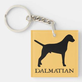 Dalmatian Square Acrylic Keychains