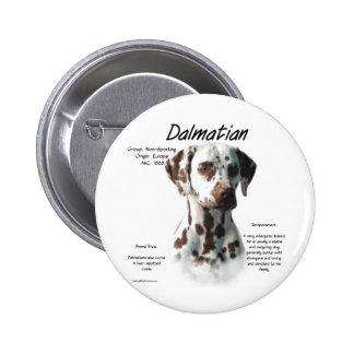 Dalmatian (liver) History Design Pinback Button