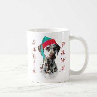 Dalmatian (liver) Santa Paws Classic White Coffee Mug
