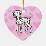 Dalmatian Love Ornament