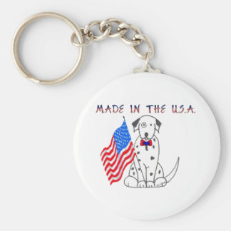 Dalmatian Made In The USA Keychain