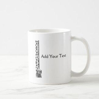 Dalmatian manchado blanco y negro taza clásica
