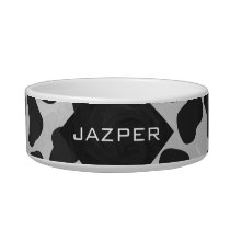 Dalmatian Monogram Black and White Prints Bowl