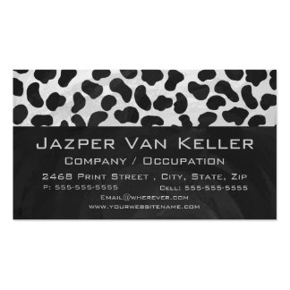 Dalmatian Monogrtam Black and White Prints Business Card