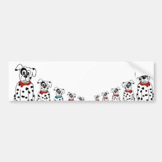 Dalmatian mummy and children bumper sticker