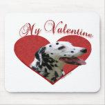 Dalmatian My Valentine Mouse Mats