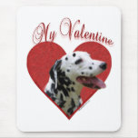 Dalmatian My Valentine Mouse Pad