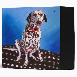 Dalmatian on spotty cushion 2011 3 ring binder