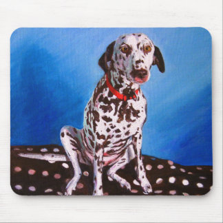 Dalmatian on spotty cushion 2011 mouse pad