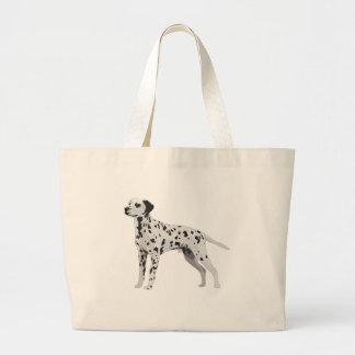 Dalmatian orgulloso bolsa tela grande
