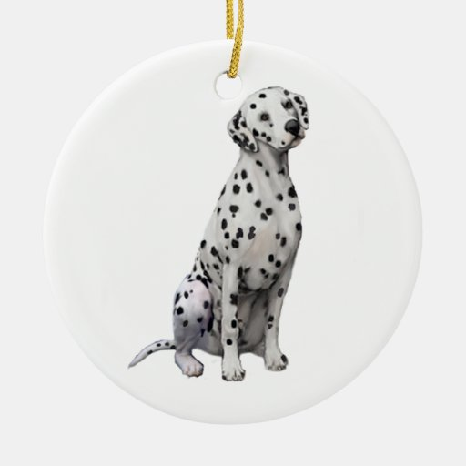 Dalmatian Double-Sided Ceramic Round Christmas Ornament