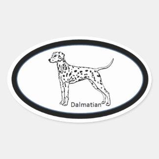 Dalmatian Oval Sticker Euro Style