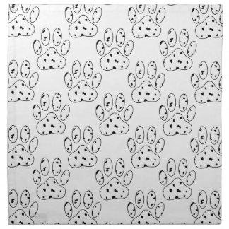 Dalmatian Paw Print Pattern Cloth Napkin