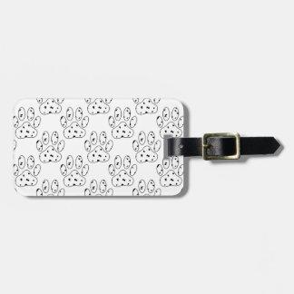 Dalmatian Paw Print Pattern Luggage Tags