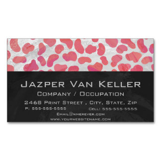 Dalmatian Pink and White Print Business Card Magnet
