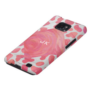 Dalmatian Pink and White Print Samsung Galaxy SII Covers