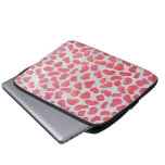 Dalmatian Pink and White Print Laptop Sleeves