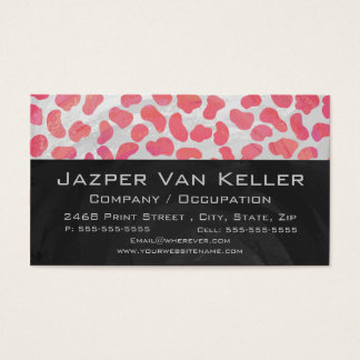 Dalmatian Pink and White with Monogram Business Card