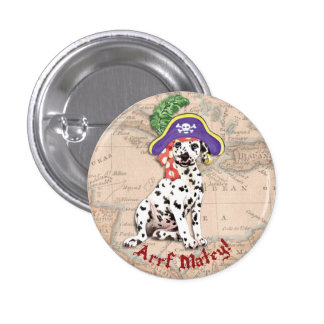 Dalmatian Pirate Pinback Button