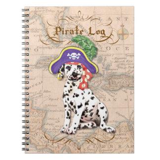 Dalmatian Pirate Spiral Notebook
