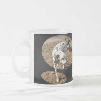 Dalmatian_Popout_Art,_ Frosted Glass Coffee Mug