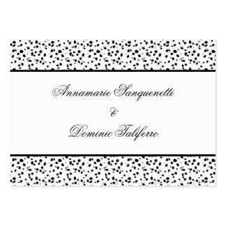 Dalmatian Print Save The Date Large Business Cards (Pack Of 100)