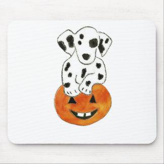 Dalmatian Pumpkin Mouse Pad