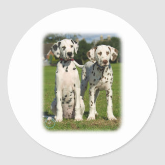 Dalmatian puppies 9A43D-10 Round Stickers