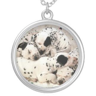 Dalmatian Puppies Necklace