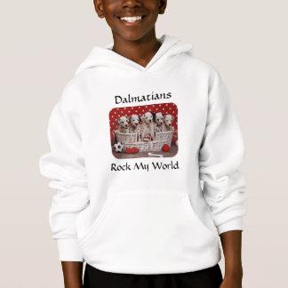Dalmatian Puppies Rock My World Kids Sweatshirti Hoodie