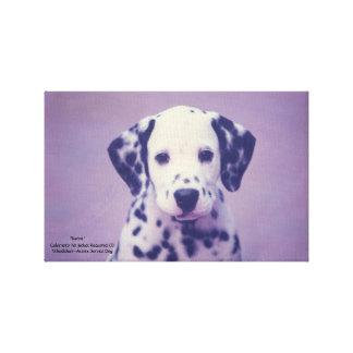 Dalmatian Puppy -- Baron Canvas Print