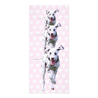 Dalmatian puppy dog bookmark, gift idea personalized rack card