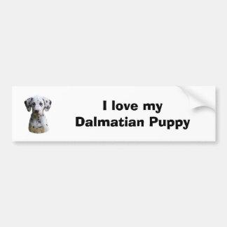 Dalmatian puppy dog photo bumper sticker