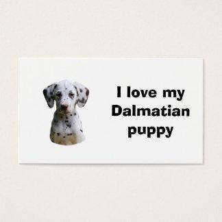 Dalmatian puppy dog photo business card