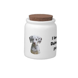 Dalmatian puppy dog photo candy dishes