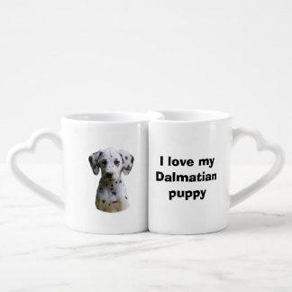 Dalmatian puppy dog photo coffee mug set