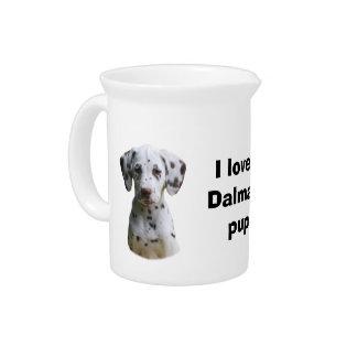 Dalmatian puppy dog photo drink pitcher