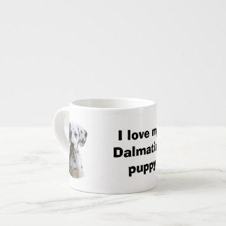 Dalmatian puppy dog photo espresso cup