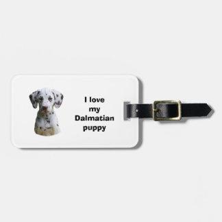 Dalmatian puppy dog photo luggage tag