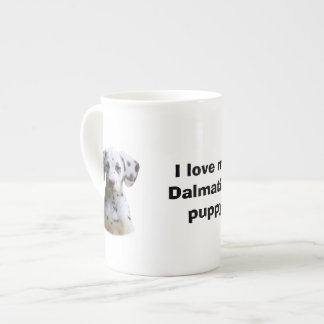 Dalmatian puppy dog photo porcelain mugs