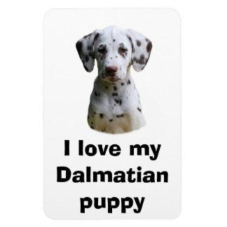 Dalmatian puppy dog photo flexible magnet